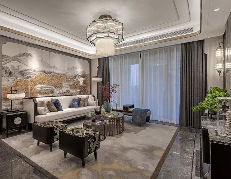 方山境120平米三室两厅新中式风格