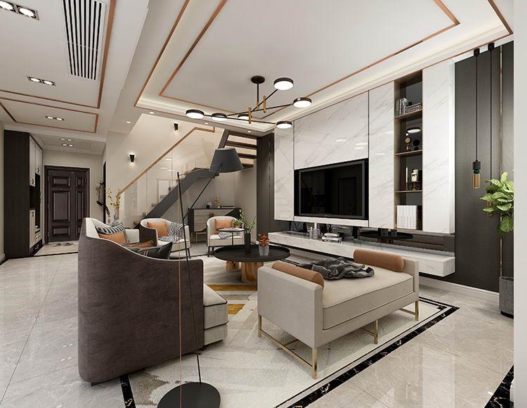 协信星麓原120平米三室两厅现代轻奢风格