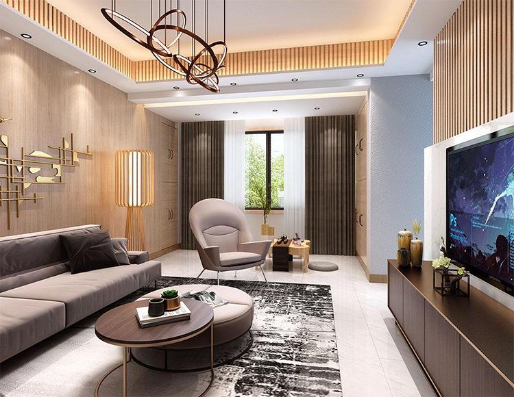 蓝光帕提欧120平米三室一厅现代简约风格
