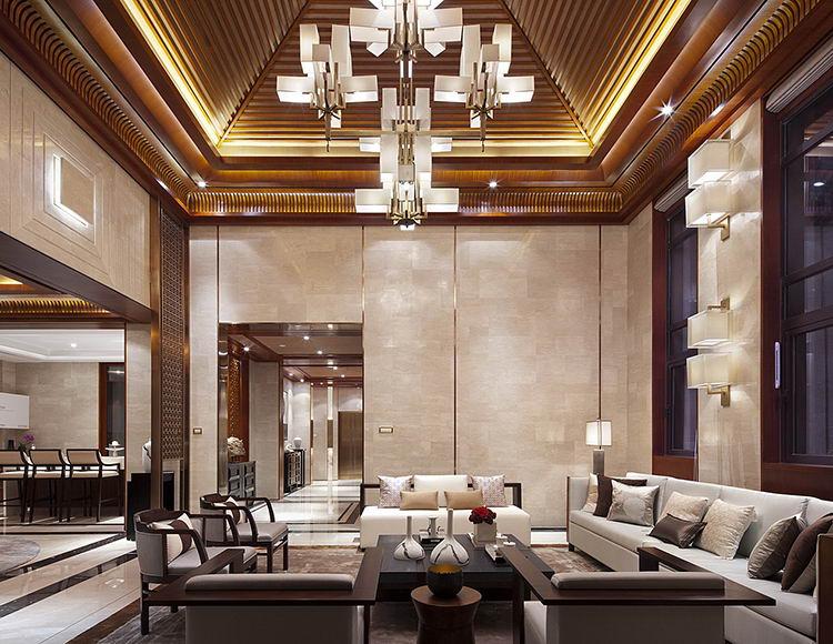 黎香湖别墅130平米三室两厅新中式风格