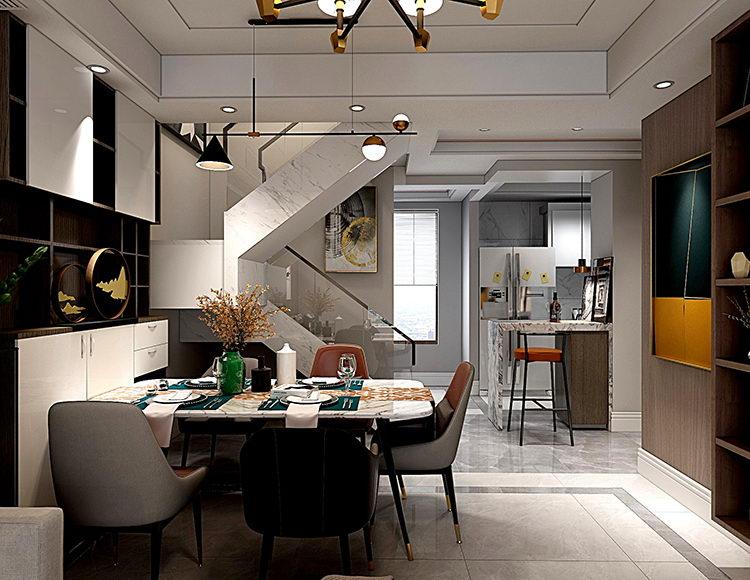 伊顿豪庭105平米三室两厅现代混搭风格
