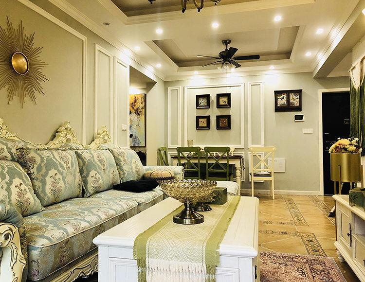 旭辉城90平米三室两厅美式风格