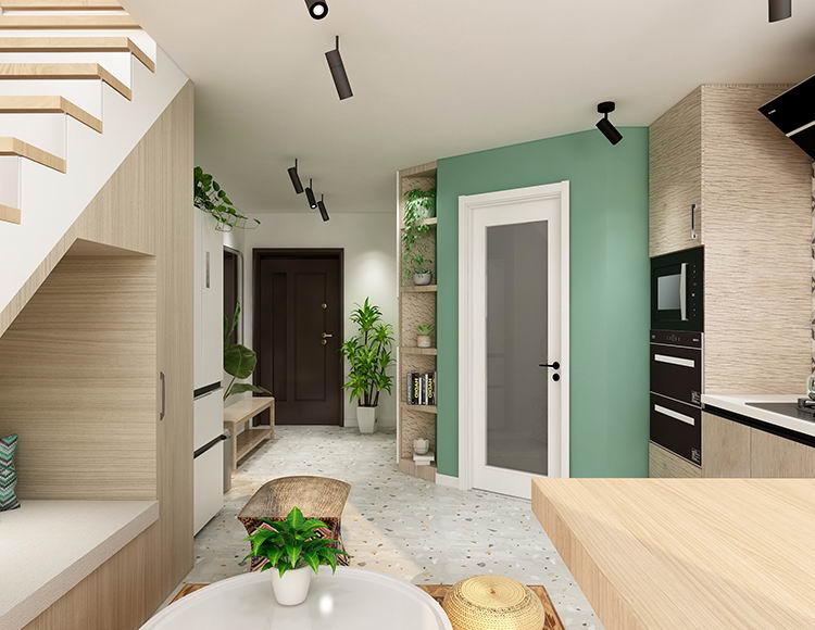 保利九悦荟63平米两室两厅现代风格