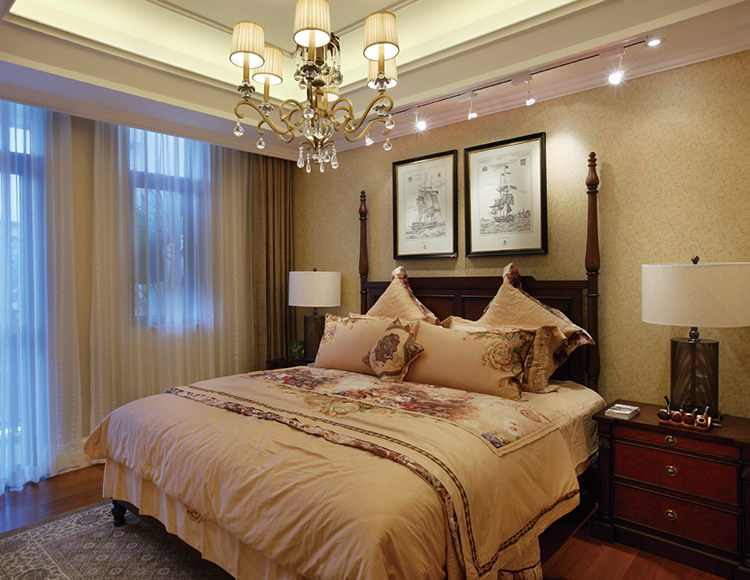 金科十年城180平米四室两厅美式风格