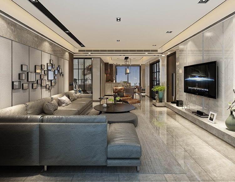 龙湖源著125平米四室两厅现代美式风格