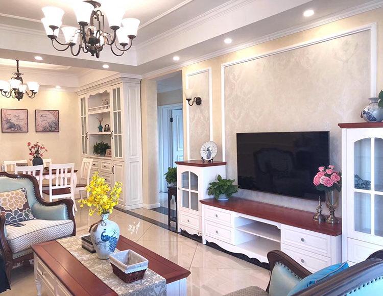 阿特豪斯110平米三室两厅美式风格