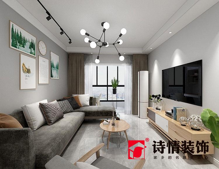 铭鑫鼎尚源82平米三室一厅北欧风格