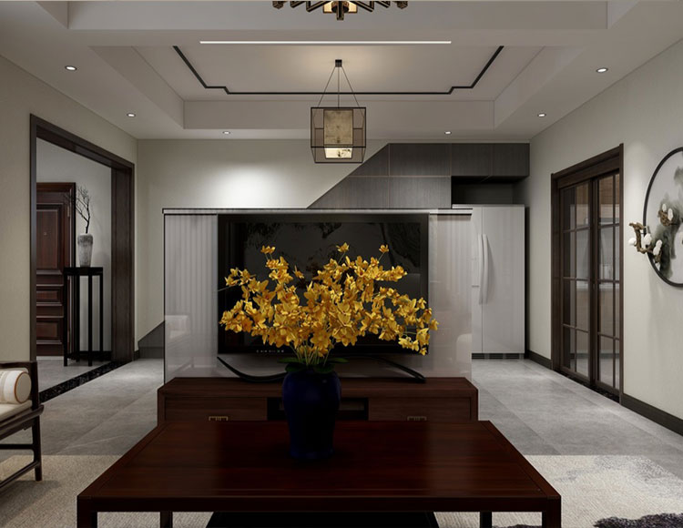 香溪美林120平四室两厅新中式风格