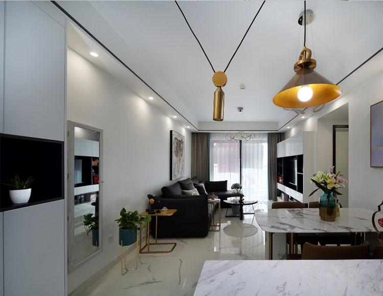 紫御江山89平三室两厅现代风格