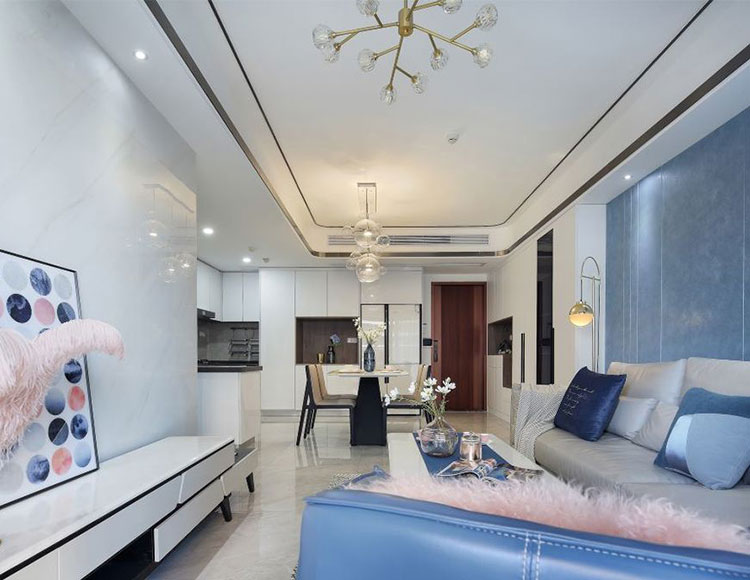 海悦府120平三室两厅现代轻奢风格